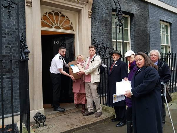 Presenting 5G Space Appeal at Downing Street